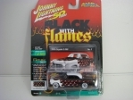 Chrysler C-300 1955 50 Years Black with Flames 1:64 Johny Lightning